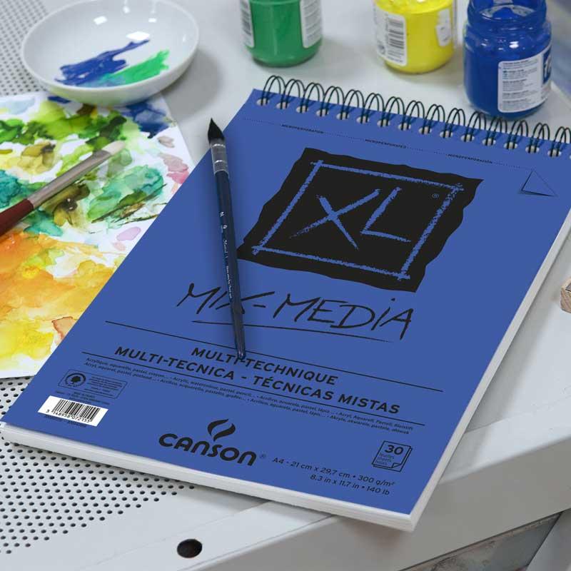 Альбом д/акварели CANSON XL Mix-Media, А4 300гр/м 30л, спираль