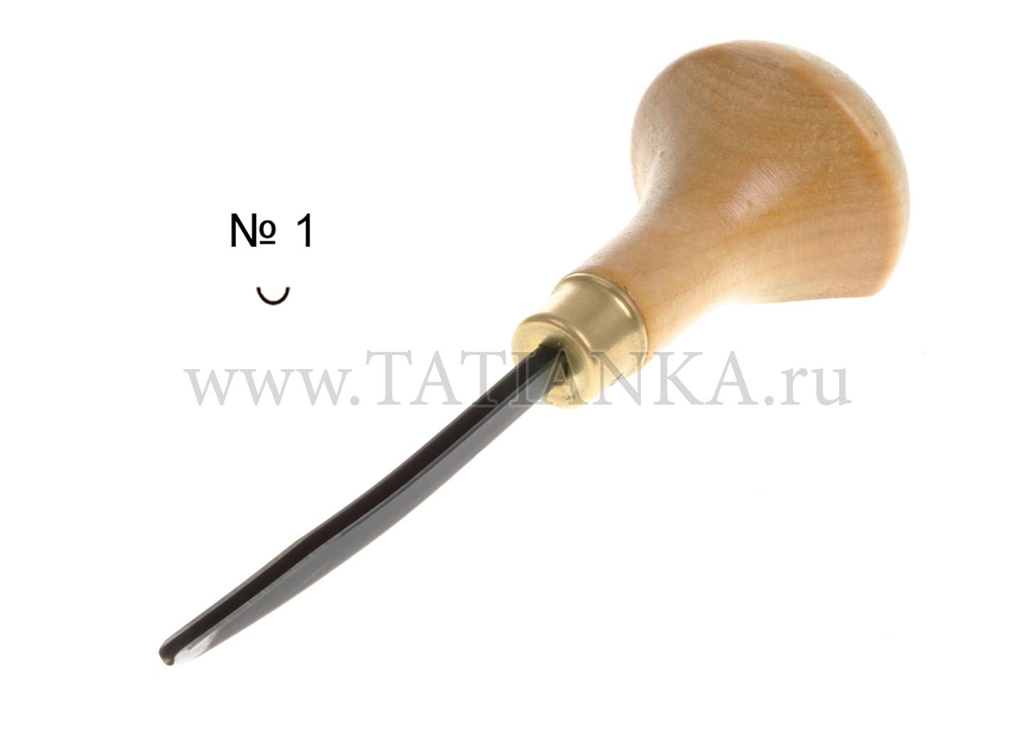 №1 Стамеска ТАТЬЯНКА ЛИН-1л/2 для линогравюры и резьбы