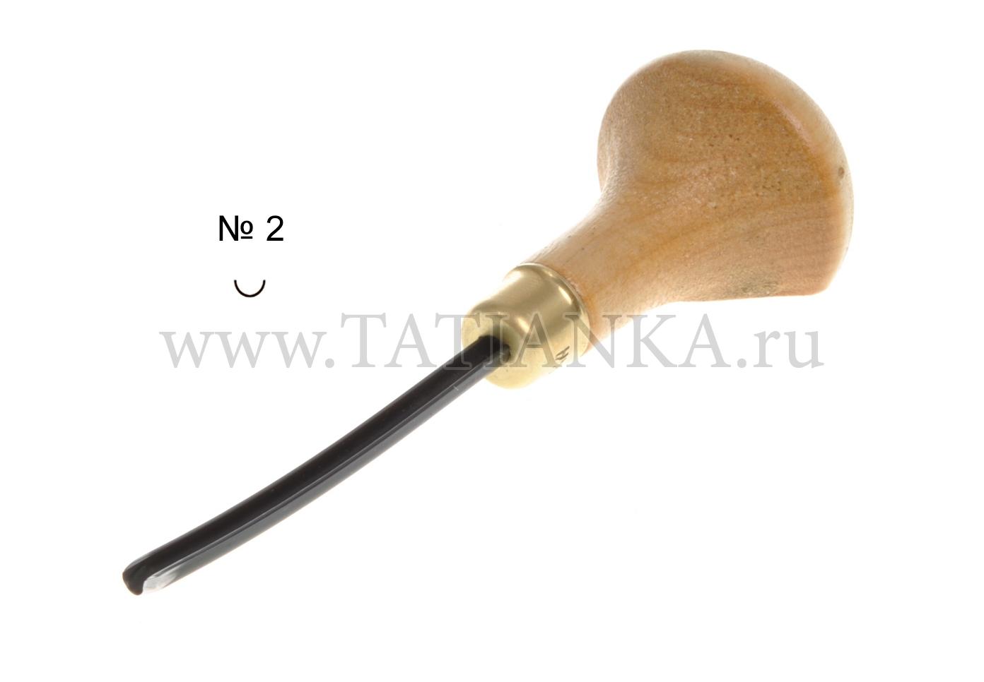 №2 ЛИН-2л/3 Стамеска ТАТЬЯНКА  для линогравюры и резьбы
