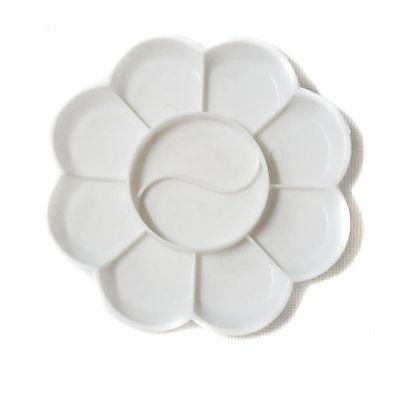 Палитра пластик круглая д=12,5 см 8 углублений, цветок
