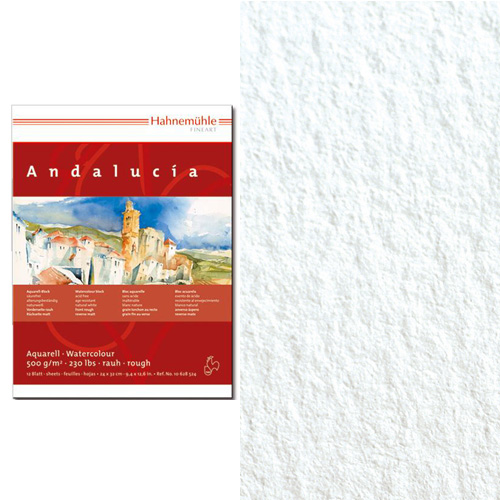 Бумага д/акварели HAHNEMUHLE Andalucia 500гр, 50*65см, кр.зерно/гладкая1 лист
