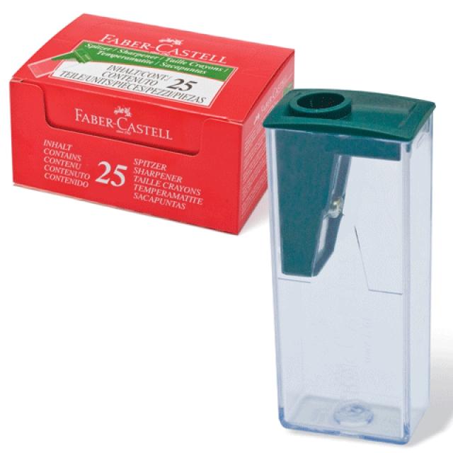 Точилка FABER-CASTELL с контейнером, зеленая