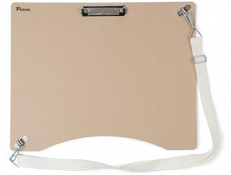 Папка-планшет PINAX 40х50см с клипсой и плечевым ремнем