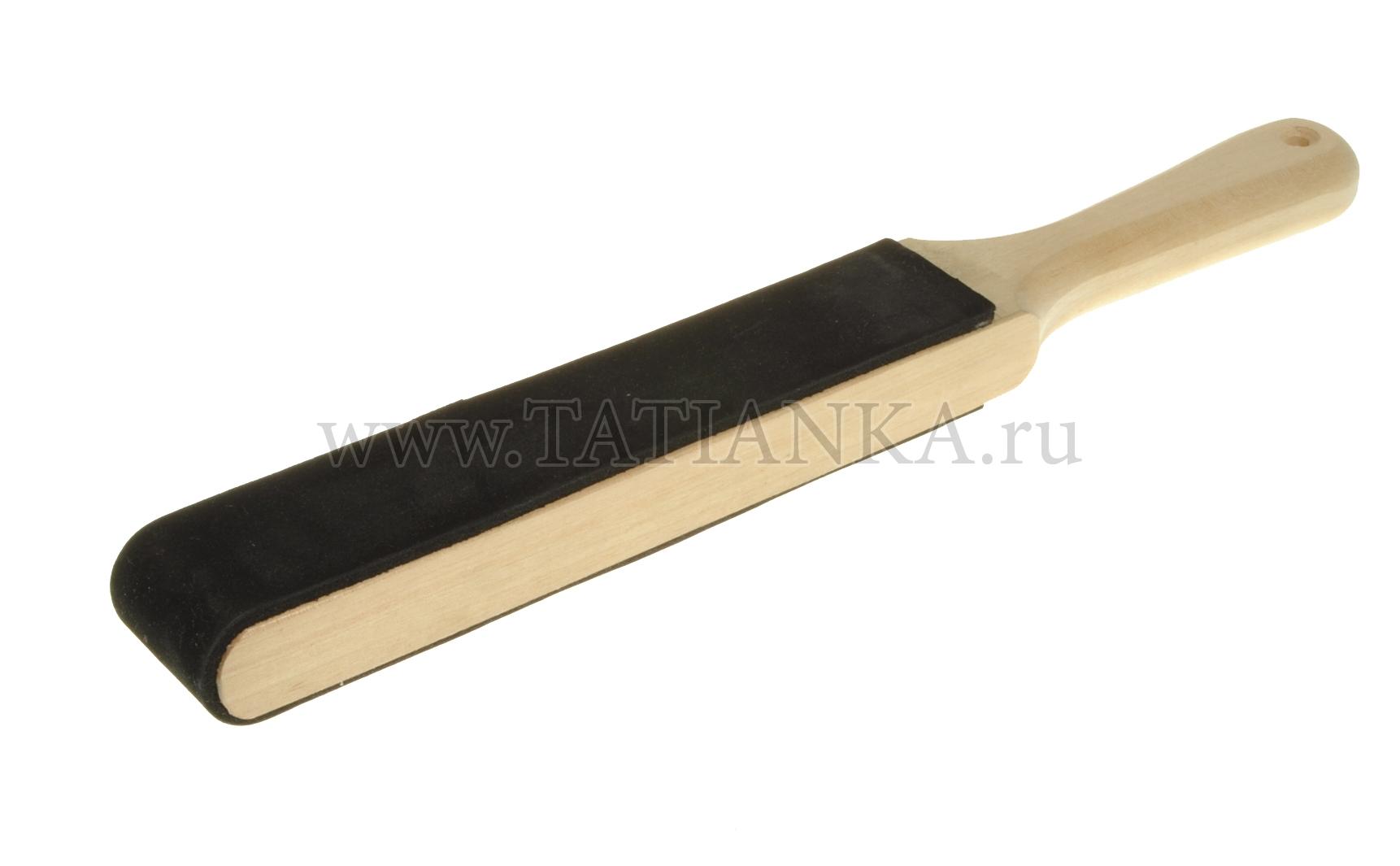 Деревянная ручка с кожей для правки инструмента