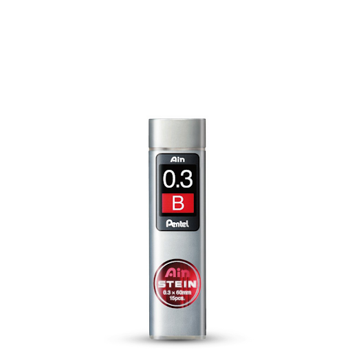 Грифели PENTEL для механических карандашей 0.3 В 15 шт
