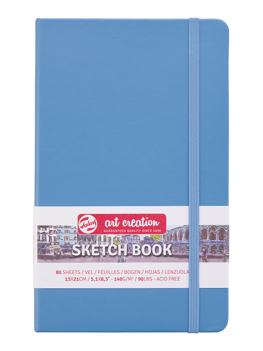 Блокнот ART CREATION 13х21см 140гр/м, 80л, (синий)