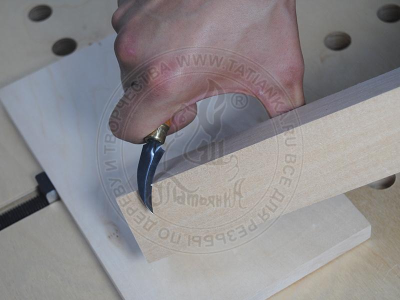 Нож №93 ТАТЬЯНКА серп с круглой ручкой