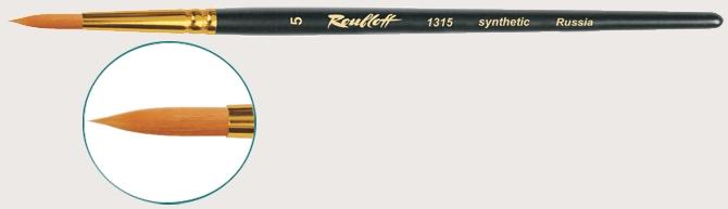 1315 (рыжая жесткая синтетика, круглая, кор.ручка)