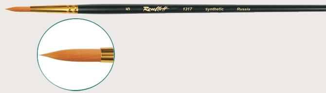 1317 (рыжая жесткая синтетика, круглая, длин.ручка)