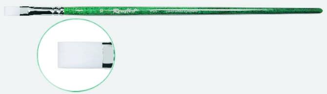 Серия 1P2G (жемчужная синтетика, плоская, длинная ручка)