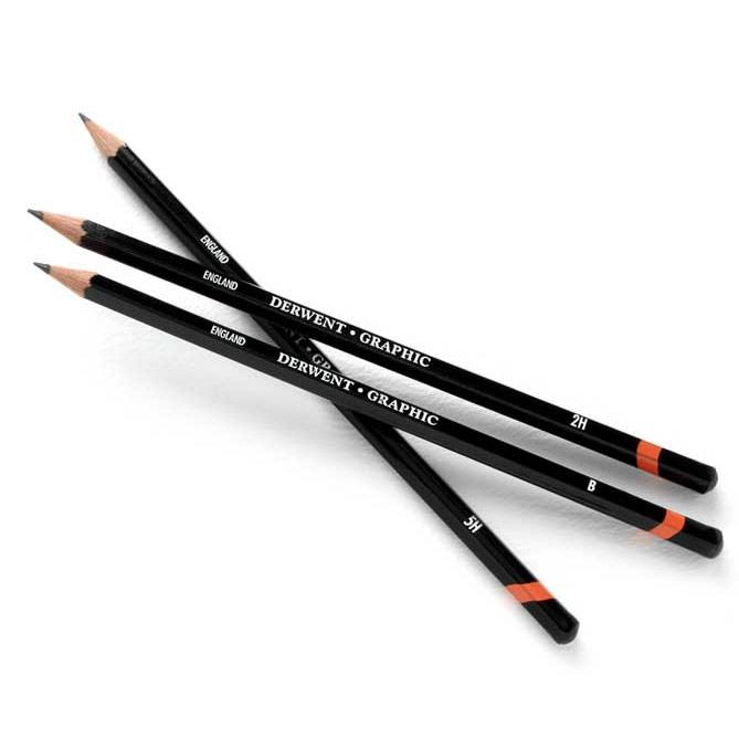 Чернографитные карандаши DERWENT Graphic