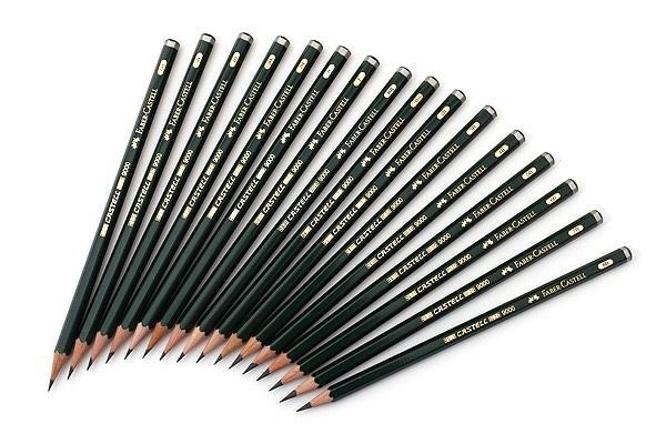 Чернографитные карандаши FABER-CASTELL 9000